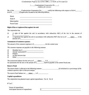 Estoppel Certificate